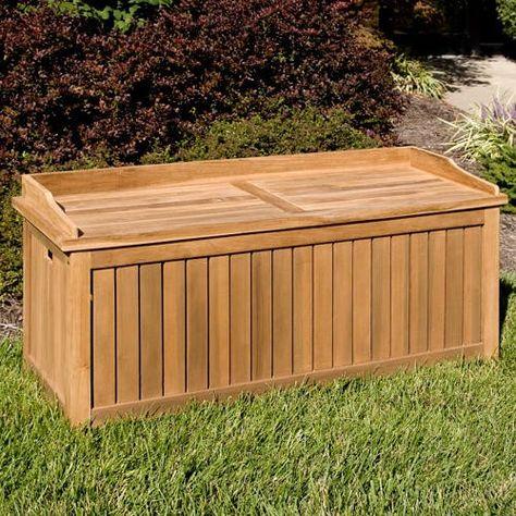 Jakie 4 Ft Teak Outdoor Storage Bench Teak Storage Teak Outdoor