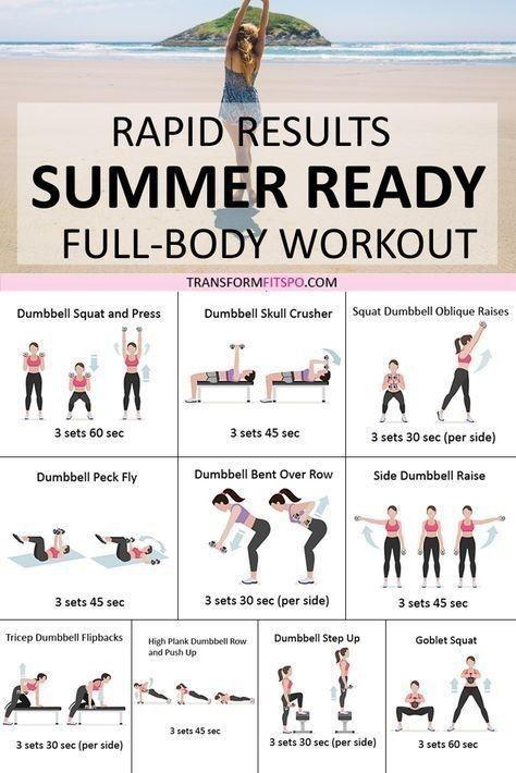 Summer Ready Full Body Workout Full Body Workout Routine Summer Body Workout Plan Free Workout Plans