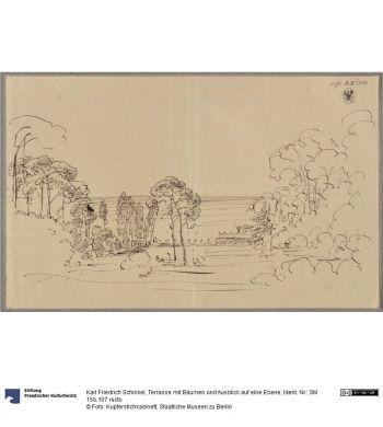 Terrasse Mit Baumen Und Ausblick Auf Eine Ebene Ausblick