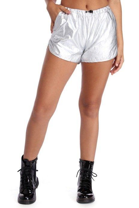 Level Up Metallic Shorts | Metallic shorts, Fashion, Womens