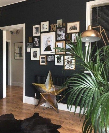 44 Outstanding Gallery Wall Decor Ideas Dark Walls Living Room