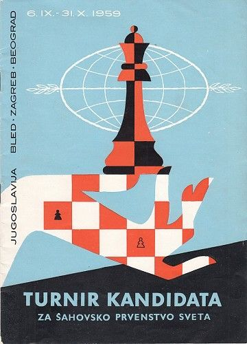 Bled Zagreb Beograd 1959 Tournament Program Listing 11936 Preserving The Past And The Future Amazing Art Painting Art Illustrations Posters