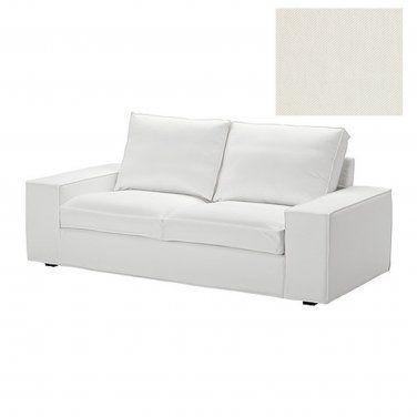 Ikea Kivik 2 Seat Sofa Slipcover Loveseat Cover Blekinge White Cotton Machine Washable Love Seat Loveseat Slipcovers Loveseat Covers