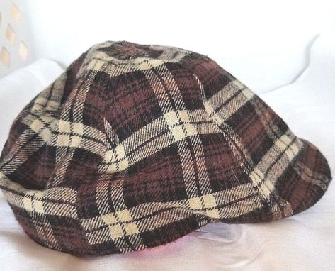 d9aff38a US Polo Association Mens Ivy Cap 6 Panel Brown Beige Plaid Fall Winter One  Size #USPoloAssn #Ivy