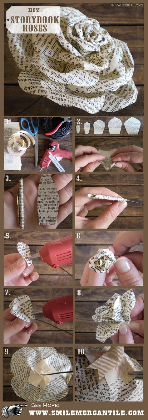 Paper Flower Tutorial: Storybook Paper Roses