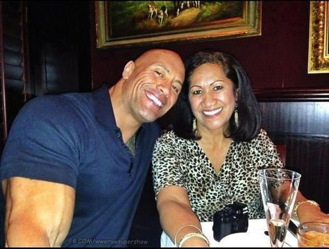 The Rock and his Mama :)
