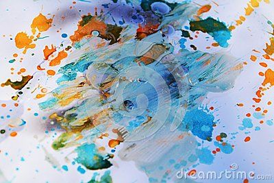 Pastel Blue Abstract Background Brush Strokes And Hand Made