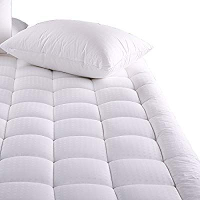 Amazon Com Merous Twin Xl Size Cotton Mattress Pad Pillow Top Hypoallergenic Quilted Mattress Topp Twin Mattress Size Mattress Pad Cover Pillow Top Mattress