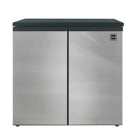 Rca 5 5 Cu Ft Side By Side 2 Door Fridge Freezer Rfr551 Stainless Walmart Com Fridge Freezers Glass Refrigerator Mini Fridge