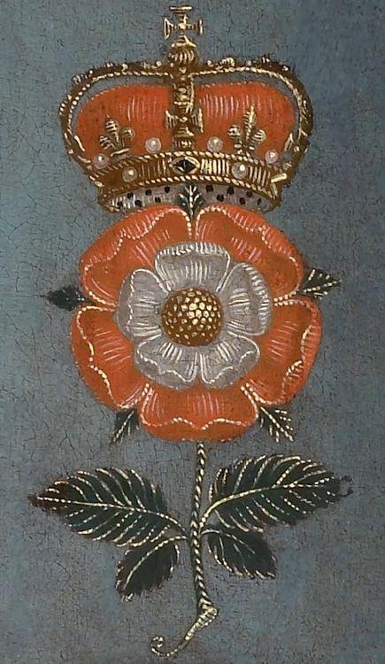 Tudor Rose detail from a portrait of Elizabeth I.
