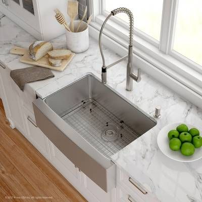Handmade 32 L X 20 W Farmhouse Kitchen Sink With Faucet Farmhouse Sink Kitchen Kitchen Remodel Kitchen Countertops