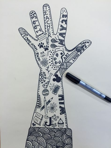 "Grade Hand Designs ""I look to a day when people will not be judged by the color of their skin, but by the content of their characte. Art Therapy Projects, Art Therapy Activities, Middle School Art, Art School, Hand Kunst, All About Me Art, High School Art Projects, 6th Grade Art, Art Lessons Elementary"