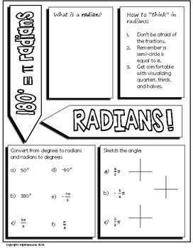 50 degrees to radians