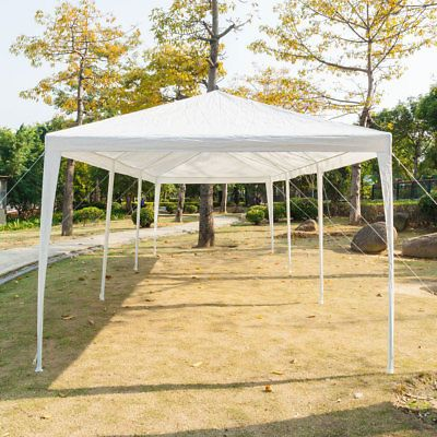 10'x30' White Canopy Wedding Party Tent BBQ Outdoor Gazebo 5