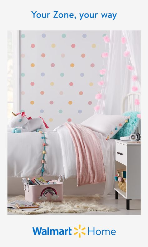 Inspire more make-believe with magical kids' furniture and decor from Your Zone. Add a whimsical touch to their room with their favorite animal or discover unisex accents that'll suit every personality. Start creating a world of their own with exclusive styles for less—only at Walmart. #WalmartHome