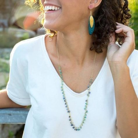 The Evening Sky Necklace is handmade from recycled brass and stone.   The stunning necklace helps women in India earn a living wage and live a life of dignity! A beautiful piece that also changes lives. 😍        #fashionrevolution #sustainablefashion #slowfashion #ethicalfashion #ecofashion #fashion #consciousfashion #ecofriendly #zerowaste #handmade #bethechange #slowfashionmovement #fairfashion #sustainability #fairtrade #consciousconsumer #makethechange #fairtradefashion #shoplocal