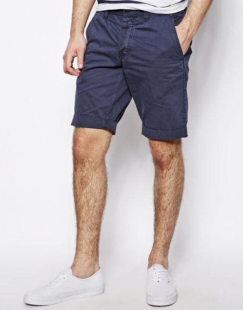 Chino shorts by Minimum Clothing Made from cotton Concealed fly and button fastening Belt loops to waist Side seam pockets Buttoned pockets to reverse