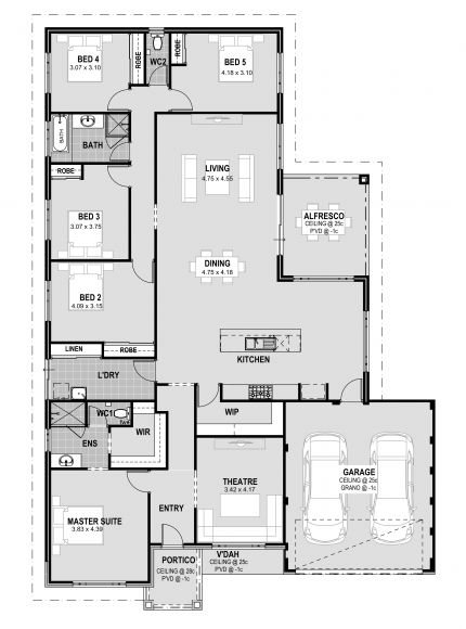 Plan 39190st One Level 3 Bedroom Home Plan One Level House Plans Craftsman Style House Plans One Level Homes