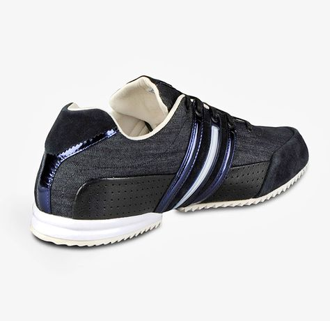9a17f50b2 Y-3 Mens Sprint Denim Runner Shoes - Street Style Track Field Classic  Trainers Denim with Suede Toe Tongue Accents Metallic Leather Canvas -  Yohji Yamamoto ...