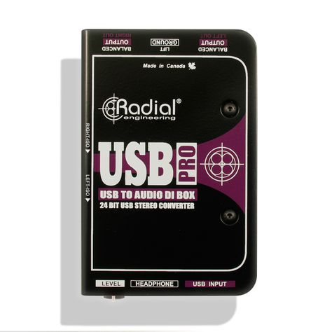 Radial Usb Pro Stereo Usb Laptop Di Line Isolator Usb Stereo Output Device