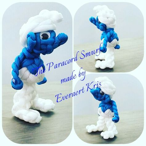 The Paracord Smurf made by Everaert Kris #paracord #smurf #knot #knotting…