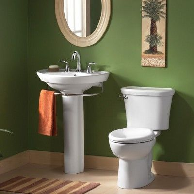 American Standard 0268 004 Ravenna Pedestal Sink Only With 24 1 4