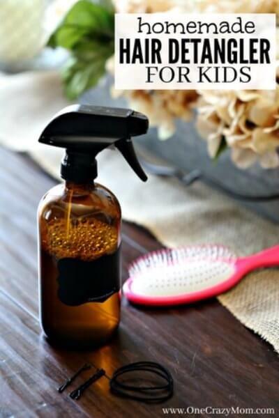 Homemade Hair Detangler Quick And Easy Diy Hair Detangler Homemade Hair Products Hair Detangler Diy Hair Detangler
