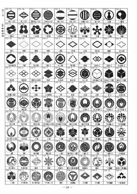 我が家の家紋 3720種類 p24 ひ ふ 引き 瓢 菱 袋 藤