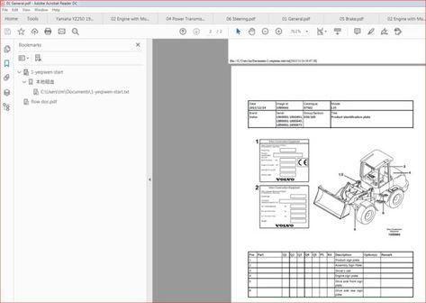 Volvo L35 Compact Wheel Loader Service Parts Catalogue Manual Instant In 2020 Parts Catalog Volvo Service
