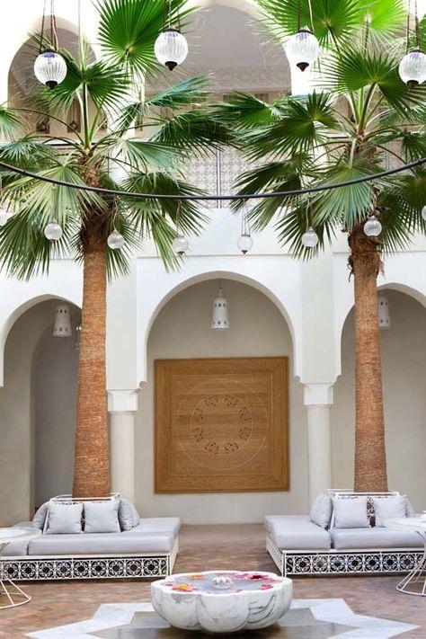 Moroccan courtyard.