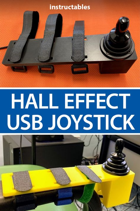 Use a industrial Hall Effect joystick to make a high precision USB joystick. #Instructables #electronics #technology #arduino #gaming