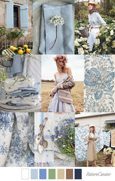 COUNTRY LIVING - color, print & pattern trend inspiration for Spring / Summer 2019 by Pattern Curator.Pattern Curator is a trend service for color, print and pattern inspiration.