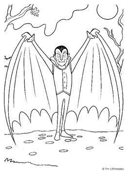Dracula Vampire Coloring Page Pdf Super Coloring Pages Coloring Pages Character Sketches