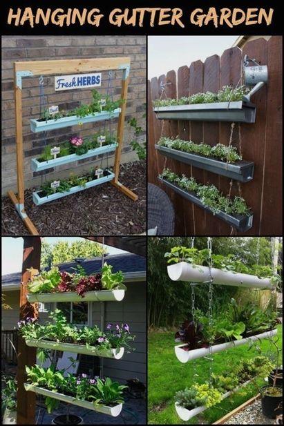 Make Your Garden Special Gutter Garden Hanging Garden Vertical Herb Garden