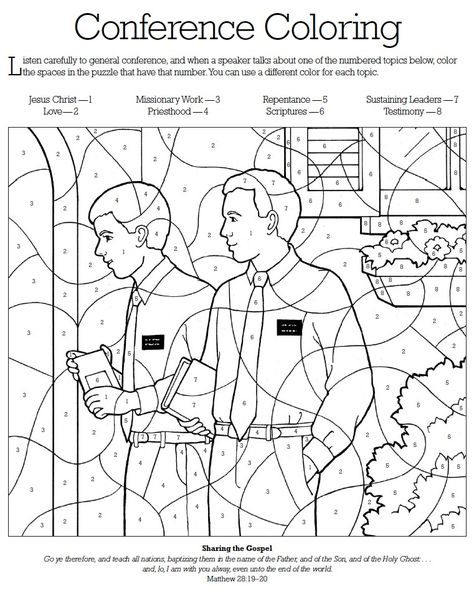 I am a child of God color by numbers, this has a great sharing time - new coloring pages book of mormon