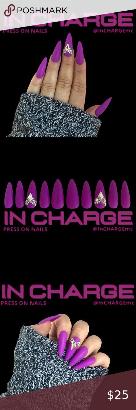 Spotted while shopping on Poshmark: InCHARGE Custom Press On Nails, Neon Purple, Gems! #poshmark #fashion #shopping #style #InCHARGE #Other