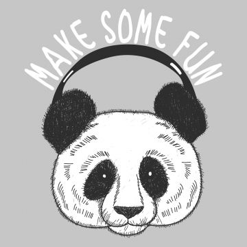 Hand Drawn Cute Panda Head For T Shirt Printing Panda Head Music Png And Vector With Transparent Background For Free Download How To Draw Hands Prints Cute Panda