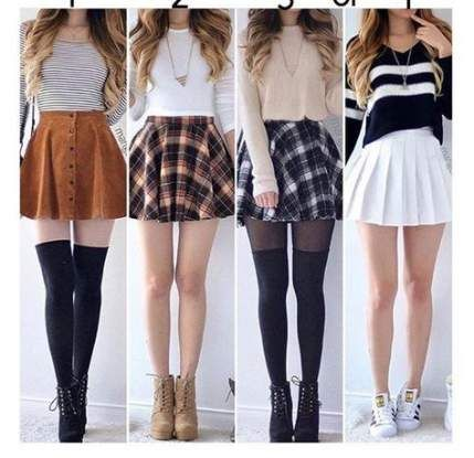 Skirt With Boots For Winter Teen Fashion 53 New Ideas