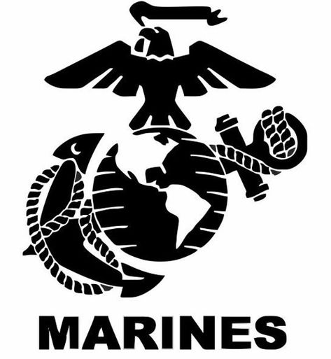 MARINE CORPS DECAL for Cars, Usmc Gifts, Military Decals, Marine Gifts, Car Accessories, Support our