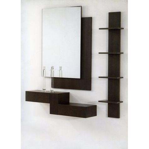 25 Repisas modernas para salas con espejo