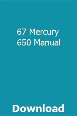 67 Mercury 650 Manual Manual Mercury Farmall