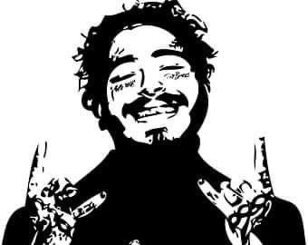 Post Malone Svg In 2020 Funny School Pictures Post Malone Homemade Stickers