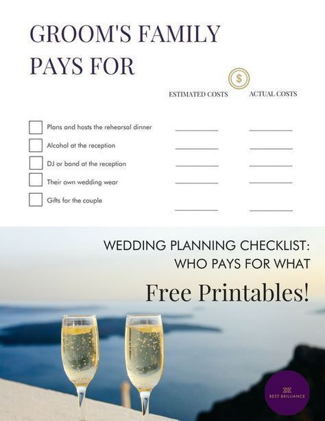 Who Pays For What In A Wedding The Ultimate Wedding Planning Printable To Keep You On Tra In 2020 Diy Wedding Planning Wedding Planning Tips Wedding Planner Printables