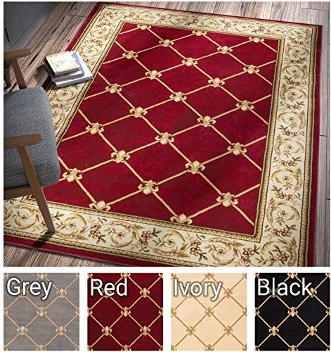 Dining Room Rug Traditional Area Rugs, 6×9 Indoor Outdoor Area Rugs