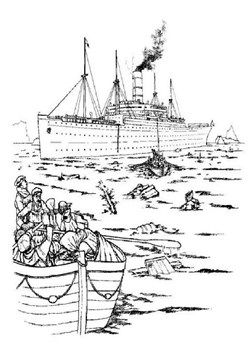 Kids N Fun Com 30 Coloring Pages Of Titanic Titanic Coloring