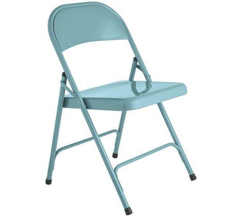 Remarkable Buy Habitat Macadam Metal Folding Chair Blue Dining Lamtechconsult Wood Chair Design Ideas Lamtechconsultcom