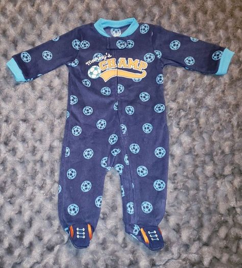 25c77d6b217a NWOT Carters Baby Boy Clothes 3-6 Months One Piece Soccer Fleece ...