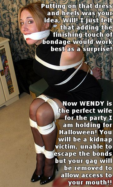 Women put cross dressers into bondage