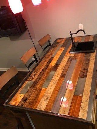 Diy Bar Countertop In 2020 Bar Countertops Diy Countertops Diy Kitchen Countertops