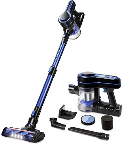 Buy Aposen Cordless Vacuum Cleaner 18kpa Powerful Suction 250w Brushless Motor 4 1 Stick Handheld Vacuum Home Hard Floor Carpet Car Pet H250 Blue Online Top In 2020 Cordless Vacuum